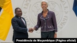 Filipe Nyusi, Presidente de Moçambique, e Christine Lagarde, directora-geral do FMI