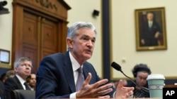 美國聯邦儲備局主席杰羅米·鮑威爾在眾議院金融委員會作證。 (2019年7月10日)
