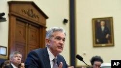 Jerome Powell, Presidente de la Junta de la Reserva Federal, comparece ante la Comisión de Servicios Financieros de la Cámara de Representantes. 10 de Julio, 2019.