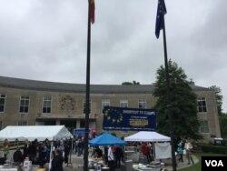 欧盟驻美使馆对外开放(美国之音莉雅拍摄)