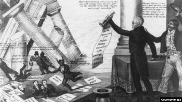 andrew jackson vs the federal bank Andrew jackson, banks, and the panic of 1837 history | essays | projects | the federal bank was obnoxious to many not merely because it was a `bank' but because it was a corporation (andrew jackson, bank veto message, july 10, 1832.