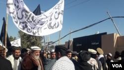 د شمالی وزیرستان د ماچس کډوال د ميران شاه پرېس کلب مخې ته احتجاجي مظاهره کوي