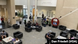 A view of the student center at Carnegie Mellon University.