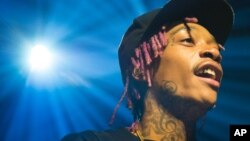Recording artist Wiz Khalifa performs in concert at Webster Hall on Nov. 16, 2014, in New York. (