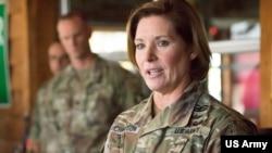 被提名出任美军南方司令部司令的陆军中将劳拉·理查森(Lt. General Laura Richardson)(美国陆军资料照)