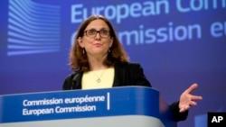 Eврокомиссар по торговле Сесилия Мальстрем (архивное фото)