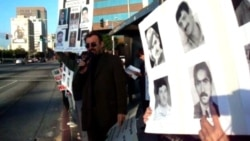 FILE - Kurdish Americans in Los Angeles protest against the death of five Kurds in Iran, May 9, 2010.