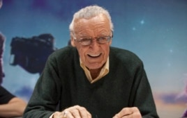 Comic book legend Stan Lee at the Chicago Comic & Entertainment Expo at McCormick Place in Chicago, April 25, 2014.