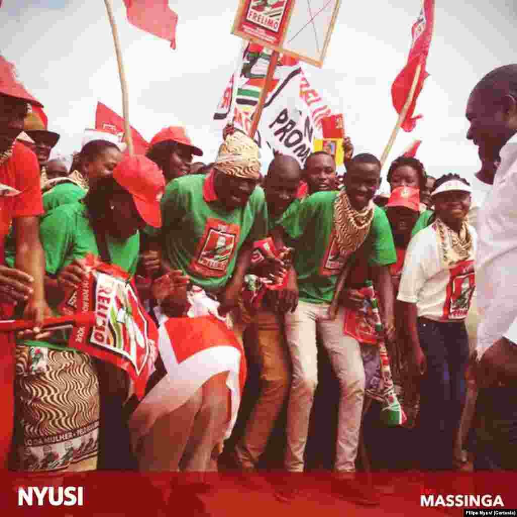 Filipe Nyusi emMassinga, província de Inhambane