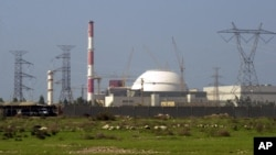 The reactor building of Iran's nuclear power plant is seen, at Bushehr, Iran.