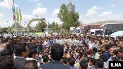 عکس آرشیوی از اعتصاب کارکنان شرکت سنگ آهن بافق