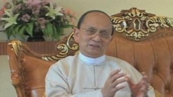Burma President interview VOA