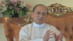 Burma President interview VOA