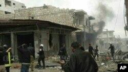 德利卜省南部地区受到俄罗斯的空袭 (叙利亚反政府力量提供)