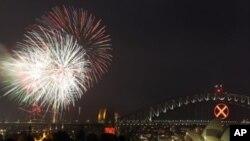 호주에서 벌어진 새해맞이 축제