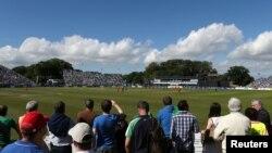 آئر لینڈ کے شہر ڈبلن کا مالاہائڈ سٹیڈیم، جہاں آئر لینڈ کی ٹیم اپنا اولین ٹیسٹ جمعے کو پاکستان کے خلاف کھیلے گی۔