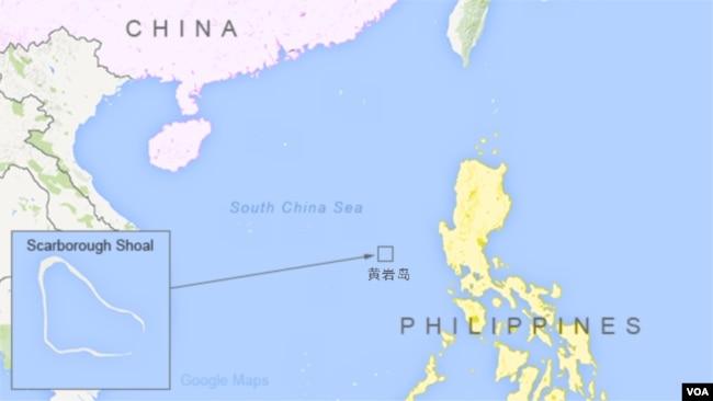 黄岩岛(斯卡伯勒浅滩)地理位置图