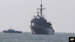 '한국, 침몰함 수색 작전 총력'