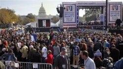 ده ها هزار نفر در یک گردهمایی بی سابقه در واشنگتن شرکت کردند