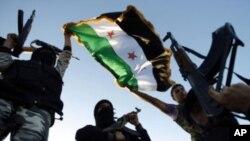 敘利亞反對派在抗議。