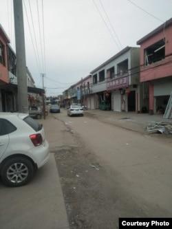 中国江苏省响水县化工厂爆炸后周边街道景象。(网络图片)