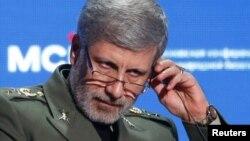 Le ministre iranien de la Défense, le général Amir Hatami, Moscou, Russie, le 4 avril 2018.