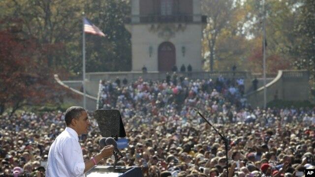 Predsednik Obama na predizbornom skupu u Ričmondu u Virždiniji