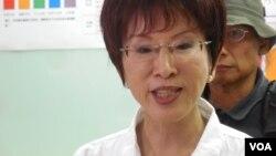 台湾立法院副院长洪秀柱(美国之音赵婉成拍摄)