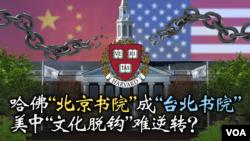 焦点对话:哈佛北京书院成台北书院 美中文化脱钩难逆转?