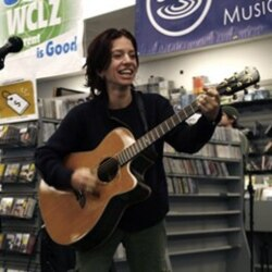 Ani DiFranco performs at a record store in Maine in 2009