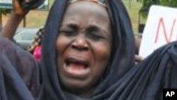 Wasu iyayen Chibok, Afrilu 29, 2014. (File Photo)