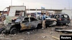 بمب گذاری در یک منطقه در بغداد - آرشیو