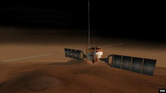 Mars Express, pesawat antariksa Eropa yang mengorbit Mars.