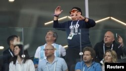 """""""El Pibe"""" frustrado com o jogo da Argentina frente à Islândia"""