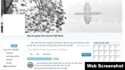 Tài khoản của đại sứ quán Mỹ trên trang Zing.vn