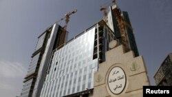 Les travaux de construction du quartier financier du roi Abdallah, au nord de Riyad, en Arabie Saoudite, le 11 avril 2016.