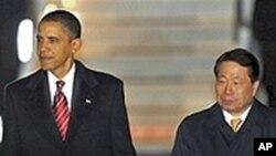 奥巴马抵达韩国访问