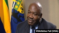 Ali Bongo Ondimba en visite à Washington, District de Columbia, États-Unis, le 31 mars 2016 (VOA/Idriss Fall)