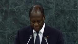 Allocution du President de la Cote d'Ivoire Alassane Ouatarra