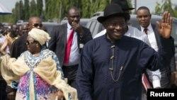 Tsohon shugaban Najeriya Goodluck Jonathan da matarsa