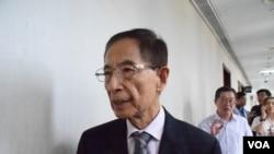 香港民主黨創黨主席李柱銘 (美國之音特約記者 湯惠芸拍攝 )