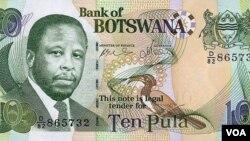 Imali yakwele Botswana eyama Pula