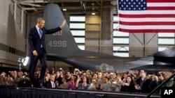 """""""La época de desplegar grandes fuerzas terrestres con grandes huellas militares (…) en el extranjero está llegando a su fin"""", dijo Obama."""