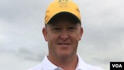 Australian golfer Marcus Fraser (P. Brewer/VOA)