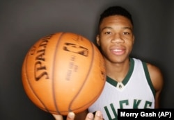 Giannis Antetokounmpo of the Milwaukee Bucks is from Greece. He is one of the best young players in the NBA.