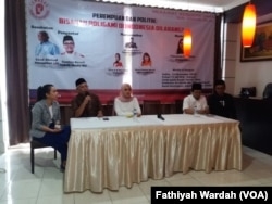 Diskusi Perempuan dan Politik di Jakarta, Sabtu (15/12). (Foto: Fathiyah Wardah/VOA)
