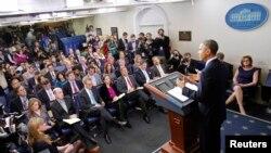 奧巴馬向白宮記者解釋減赤計劃