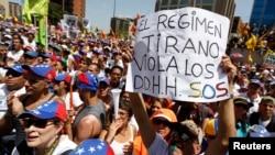 Protesta contra el gobierno de Nicolás Maduro.