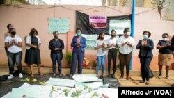 Feministas reunidas no Fórum Mulher, em Maputo, 17 de setembro, 2020.
