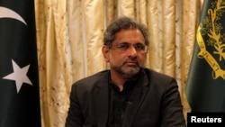 巴基斯坦總理2018年1月22日接受路透社採訪(路透社)